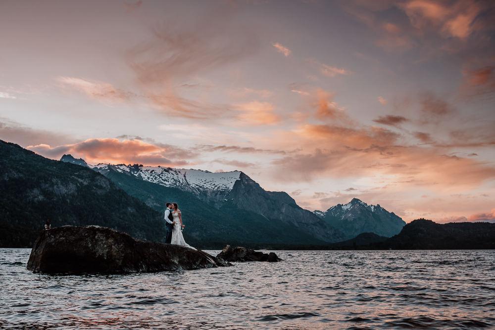 casamiento en el lago bariloche patagonia argentina