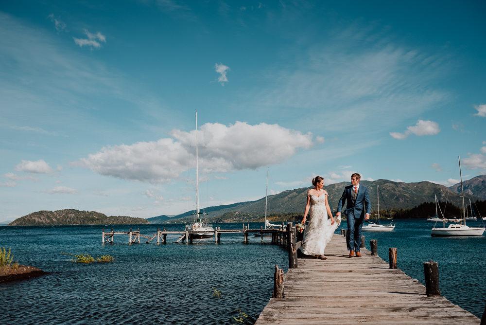 casamiento en un muelle bariloche fotos