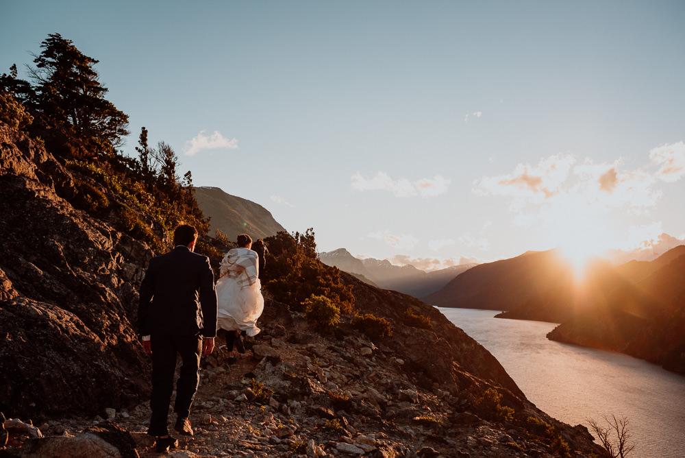 boda al aire libre en la montaña bariloche
