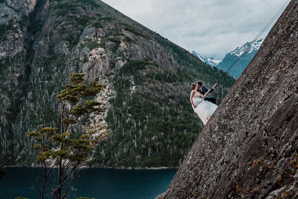 Andes mountain wedding photos