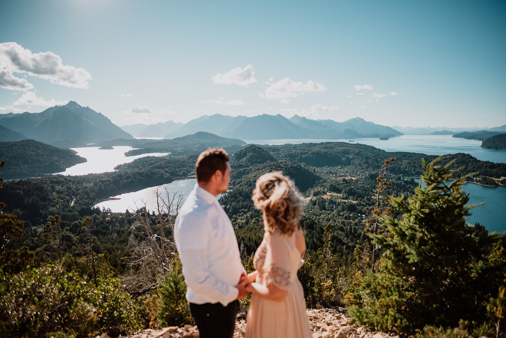 elopement photo session in patagonia