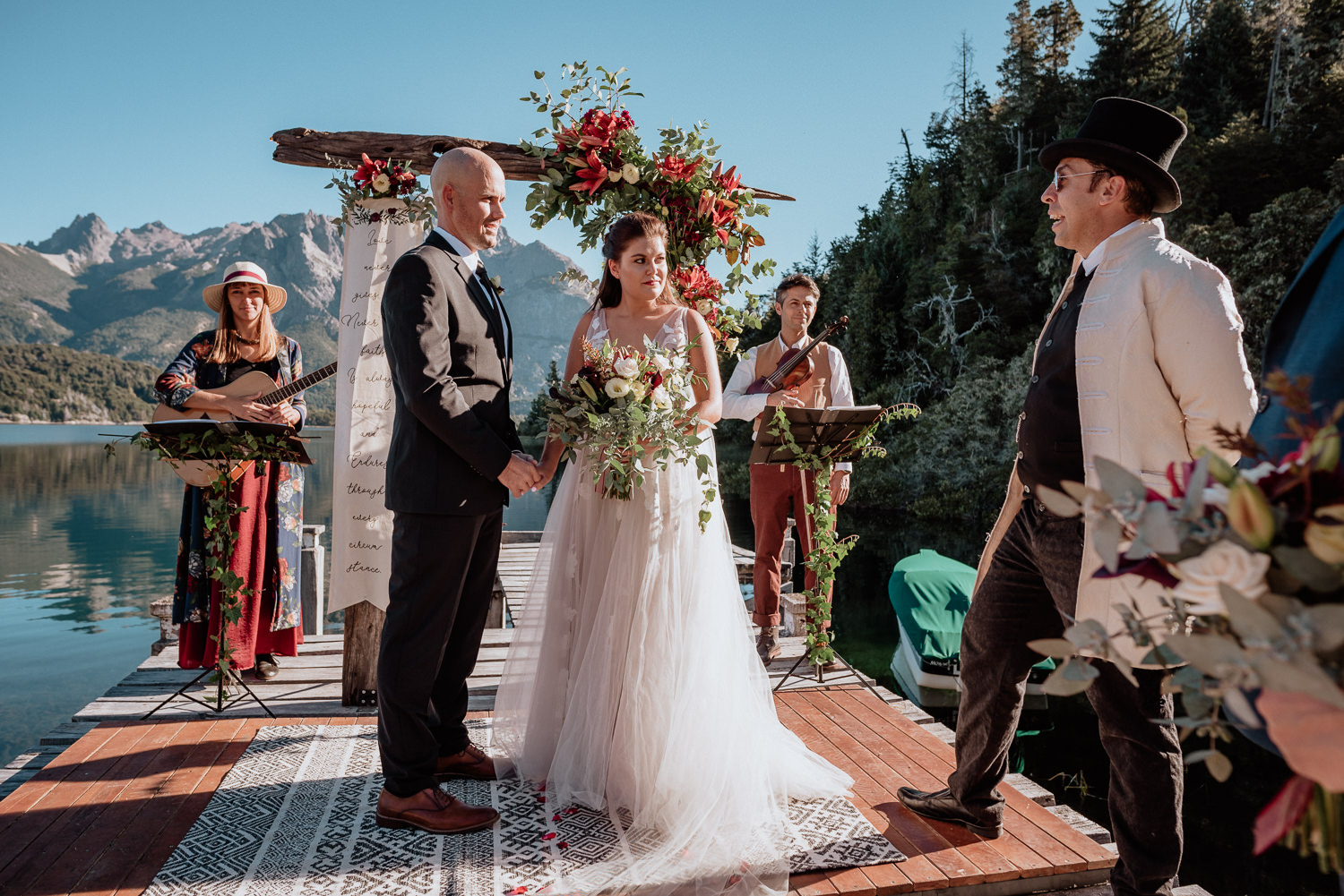 intimate wedding ceremony in patagonia