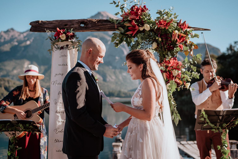 intimate wedding ceremony in hotel llao llao patagonia