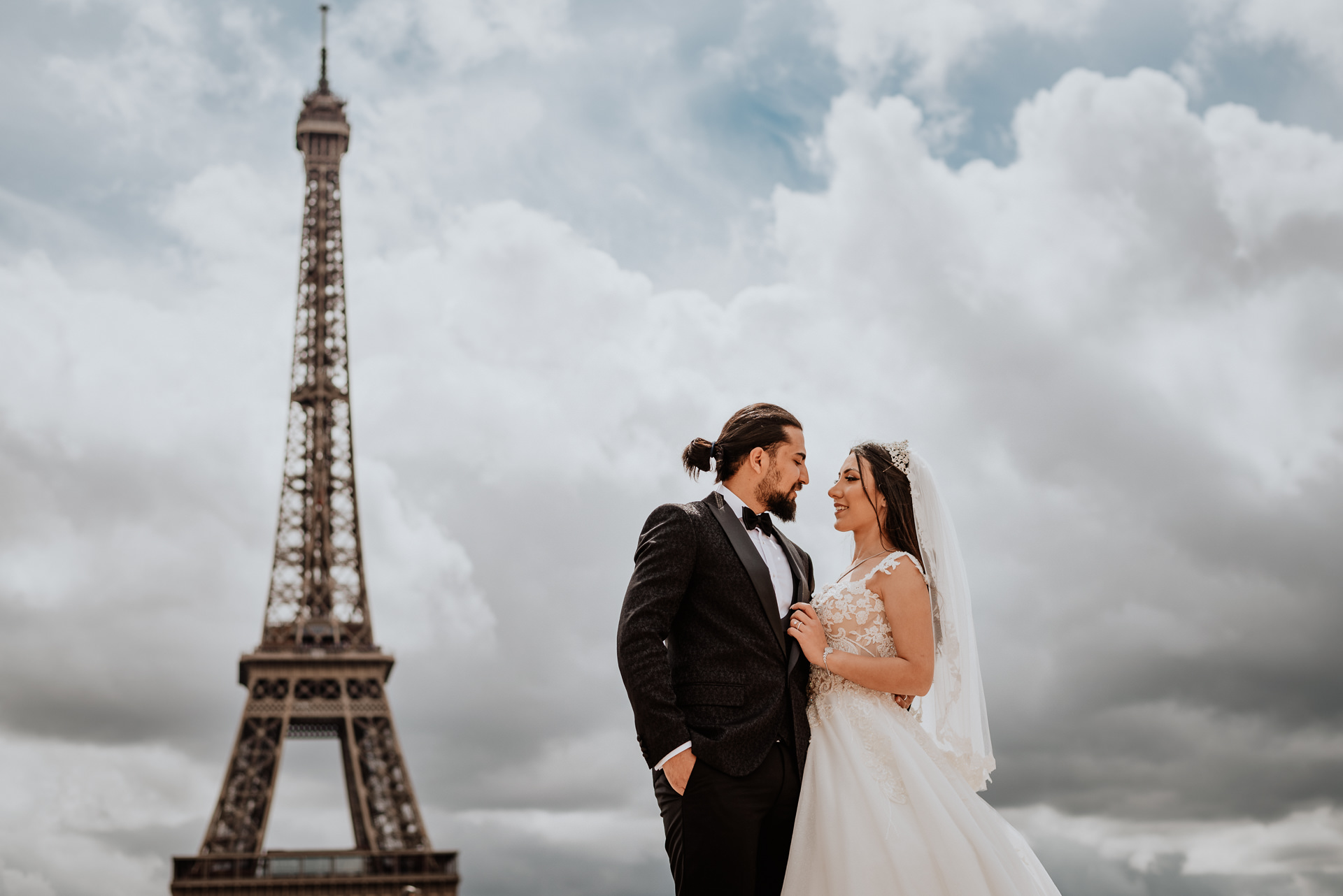PAris elopement wedding photoshoot