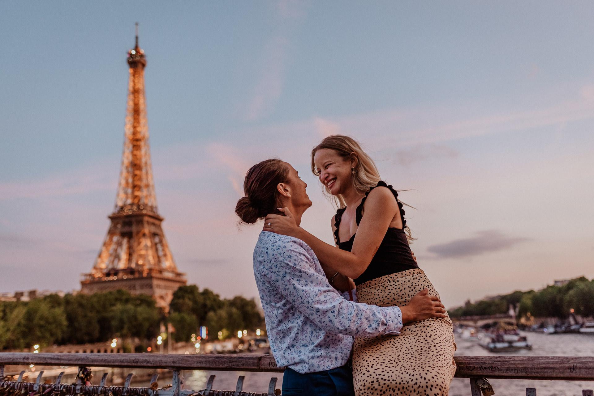 Eiffel tower photoshoot