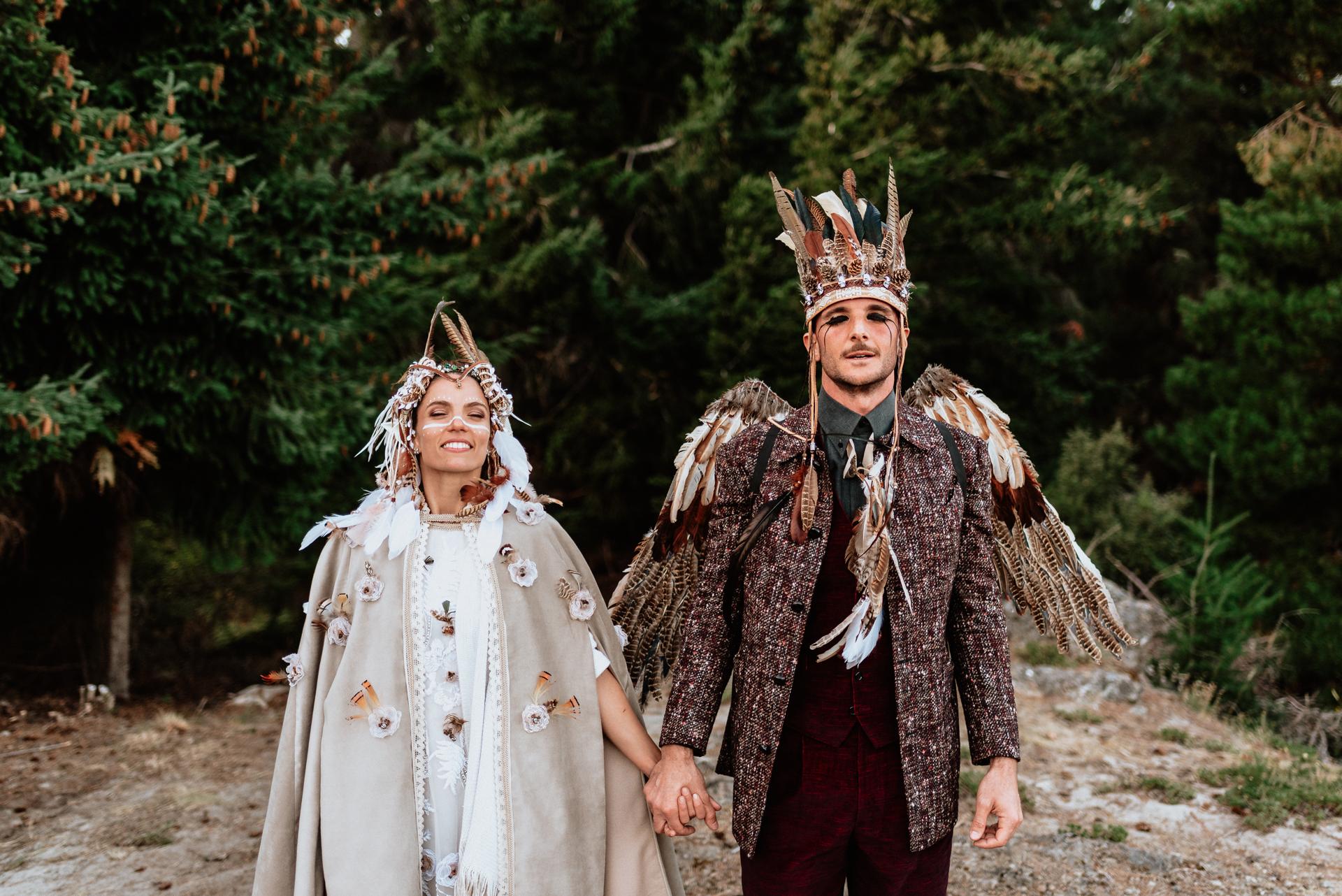 casamiento indígena en el bosque