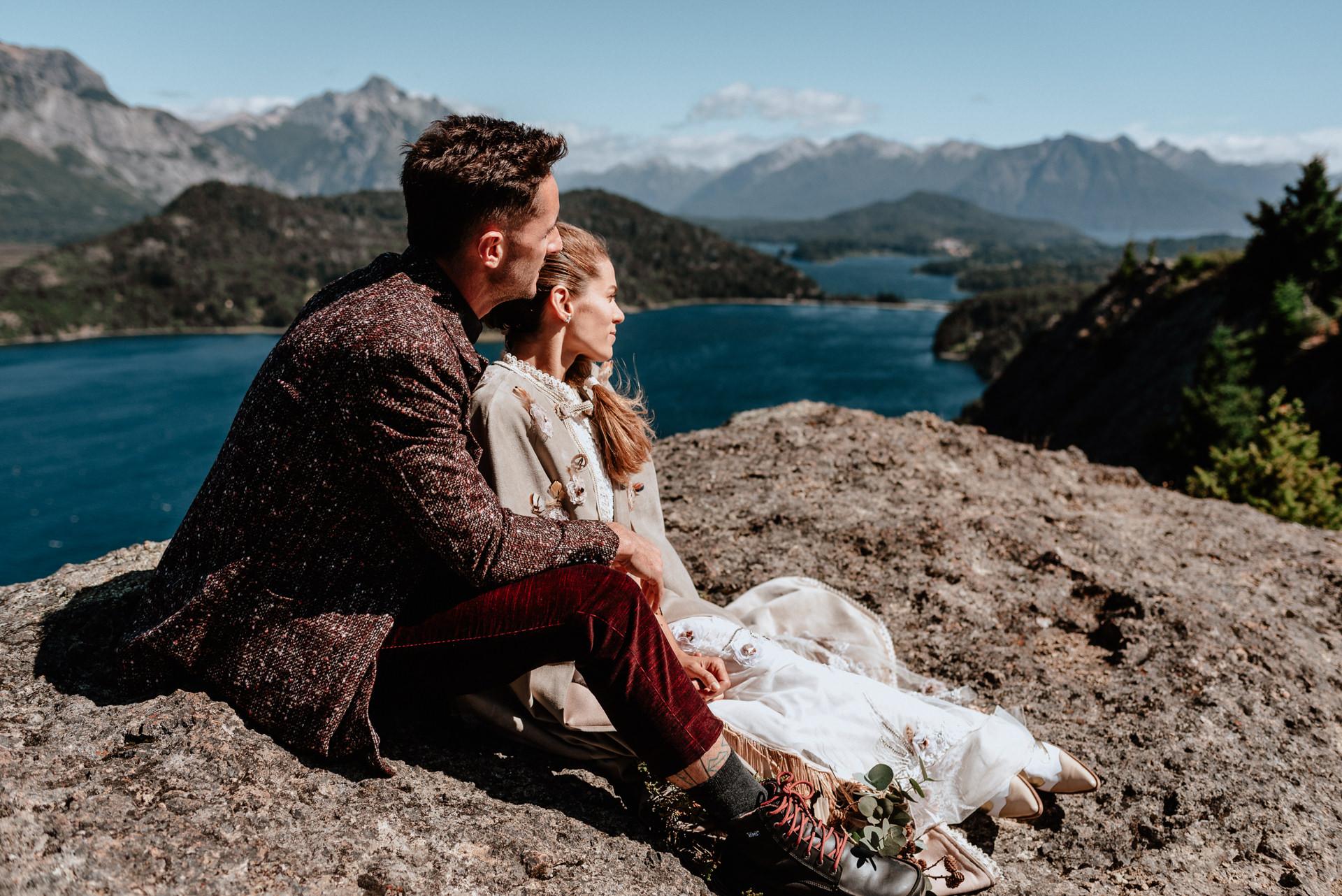 elopement wedding mountains patagonia