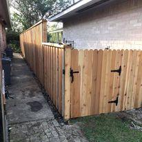 custom cedar fence and gate
