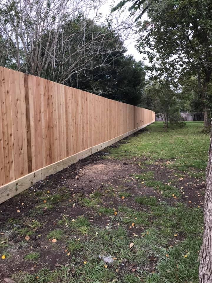 8' cedar privacy fence friendswood