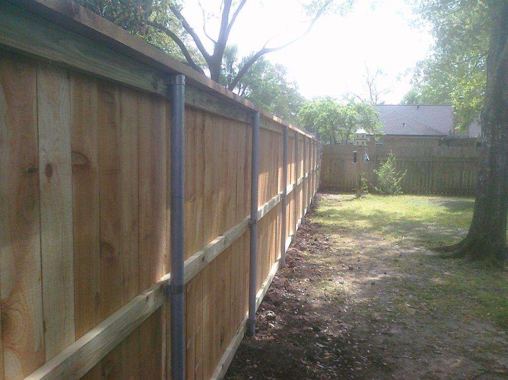 galvanized post cedar fence sugar land