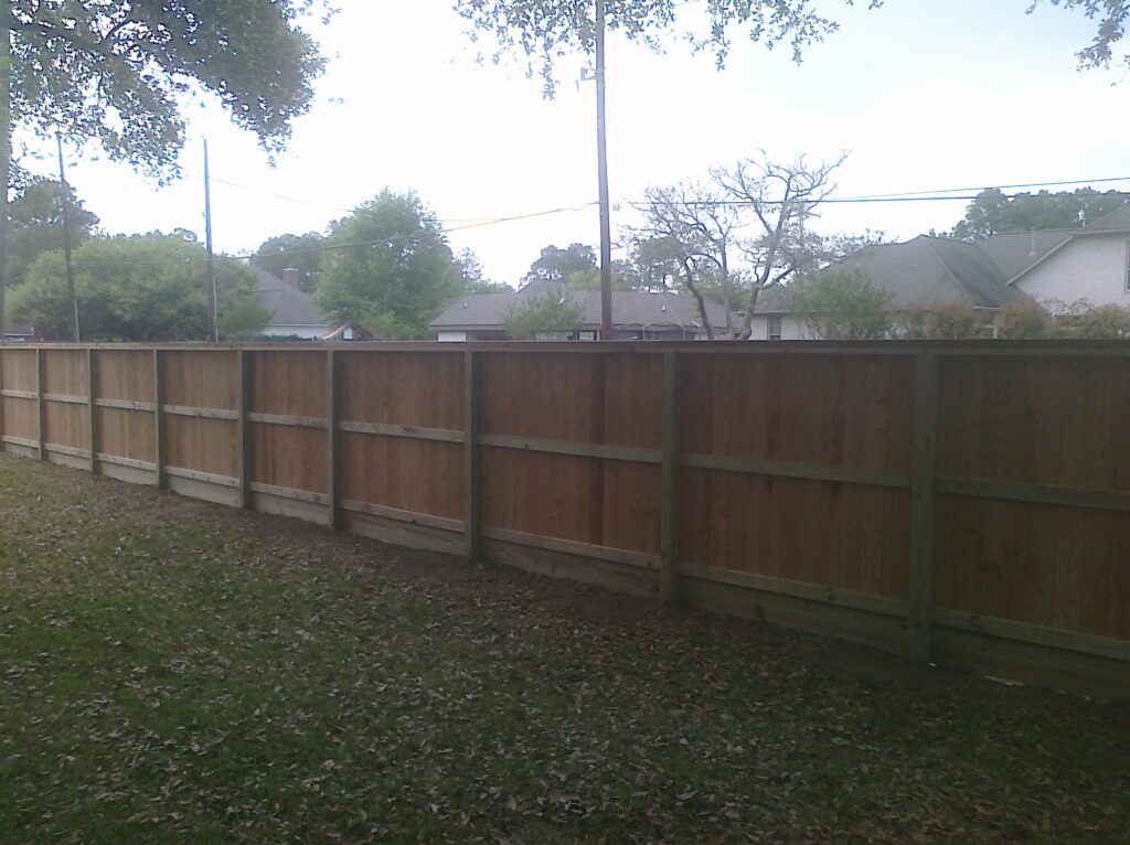 standard 7' cedar fence houston