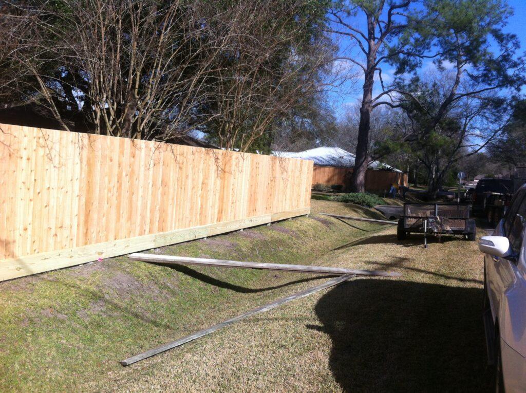 7' cedar houston fence