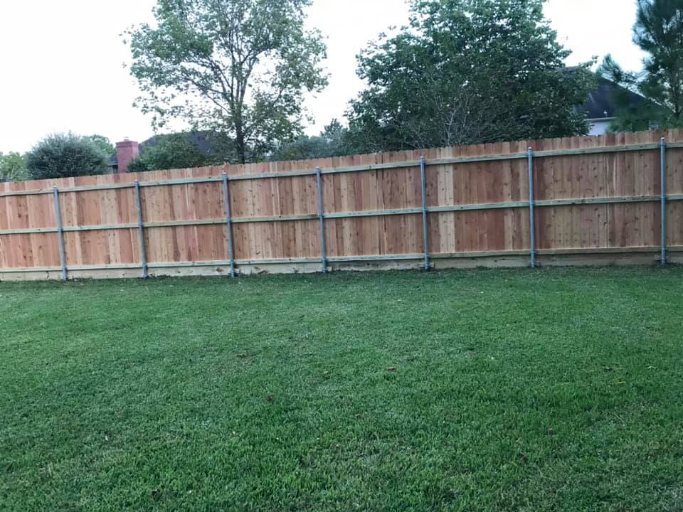 cedar fence on round posts
