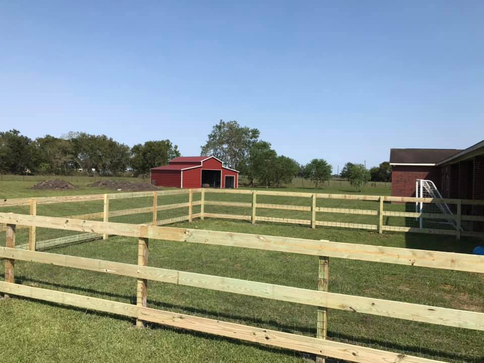 ranch fence with wire