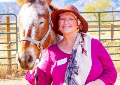 Merri smiling with horse