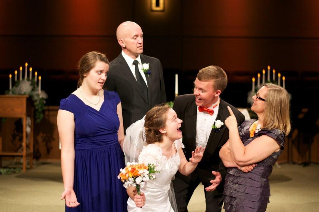 crazy wedding photo