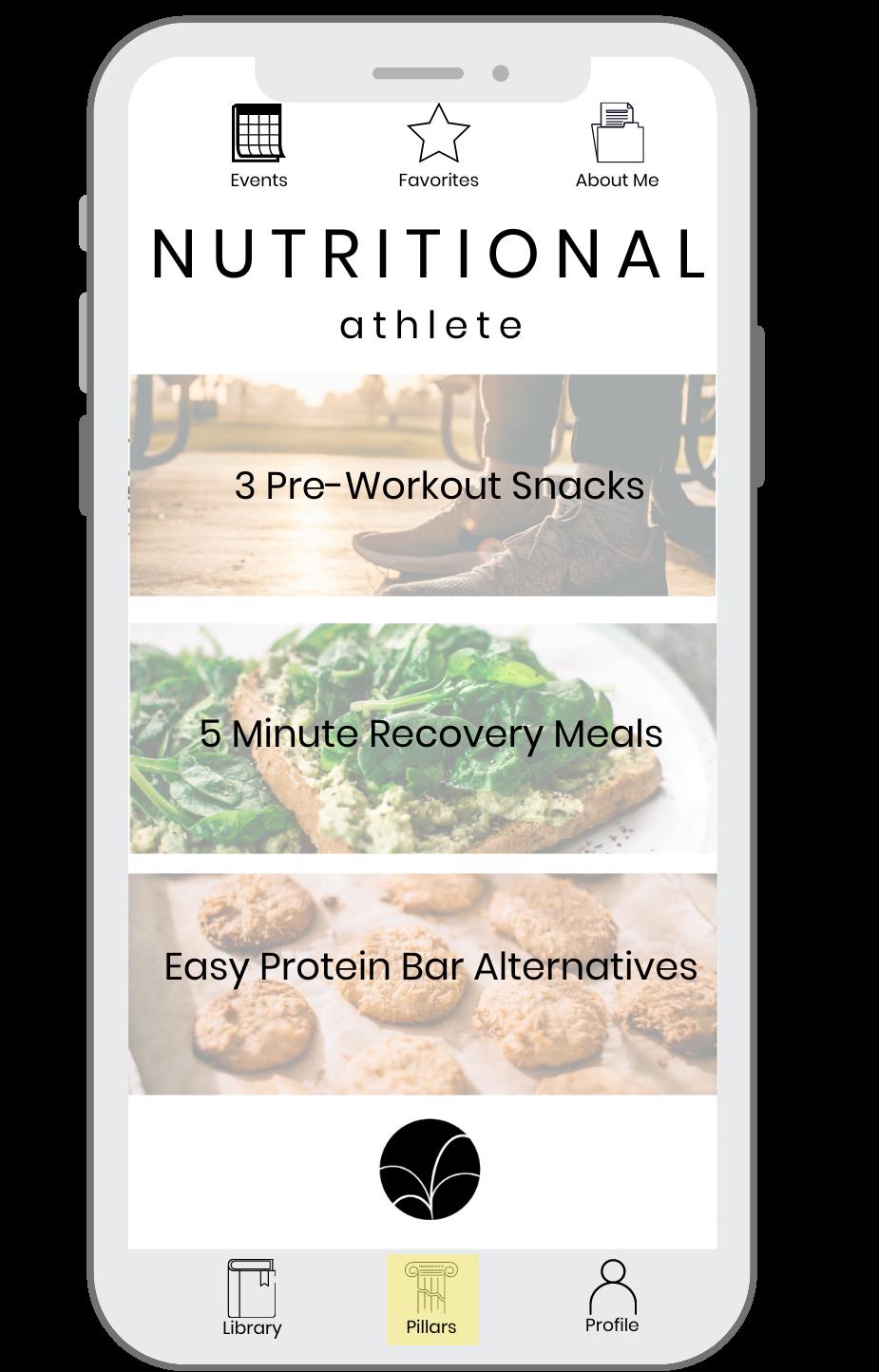 Nutritional Athlete Pathway App