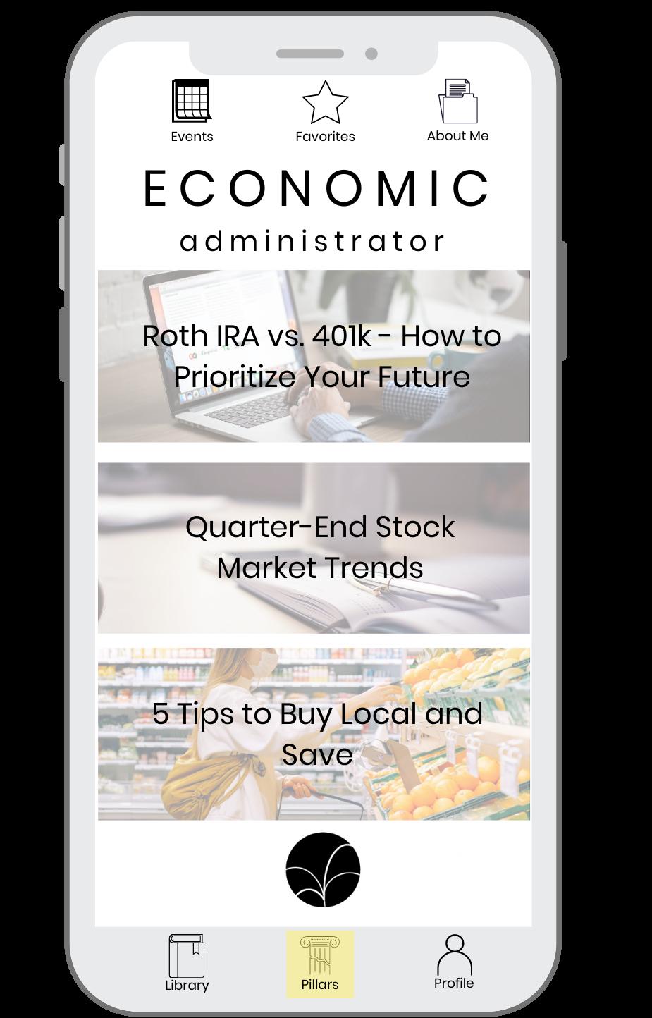 UWP Phone layout - Economic Admin