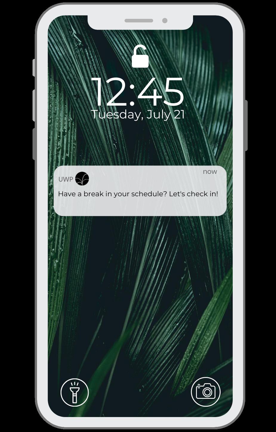 UWP Phone layout - Lock Screen Plant