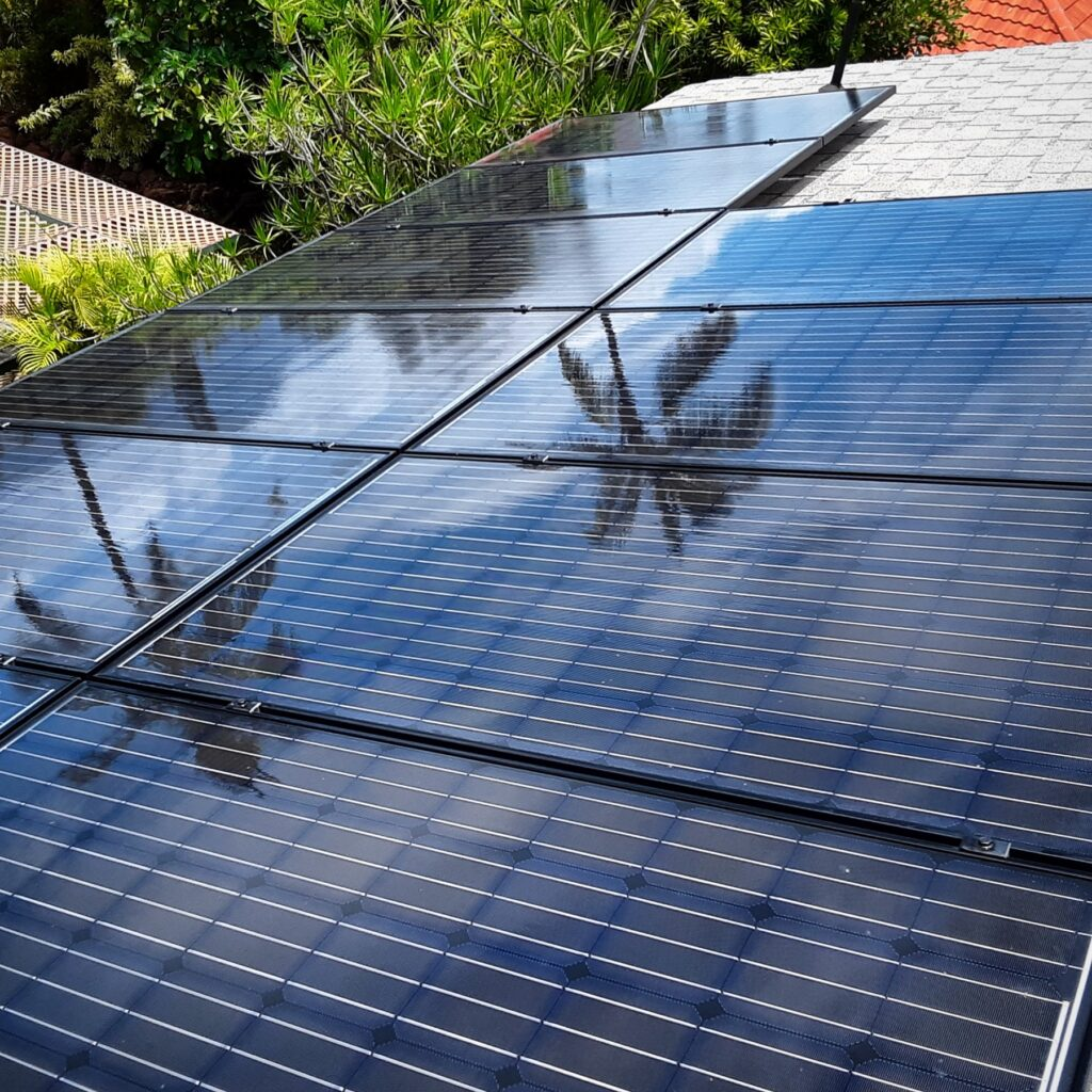 large solar panel cleanings