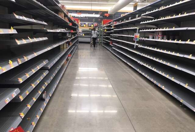 What did you think when you saw empty shelves?