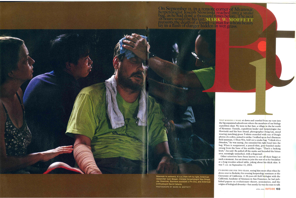 The article Bit in Outside Magazine concerns the tragic death of Joe Slowinski (Click to open)