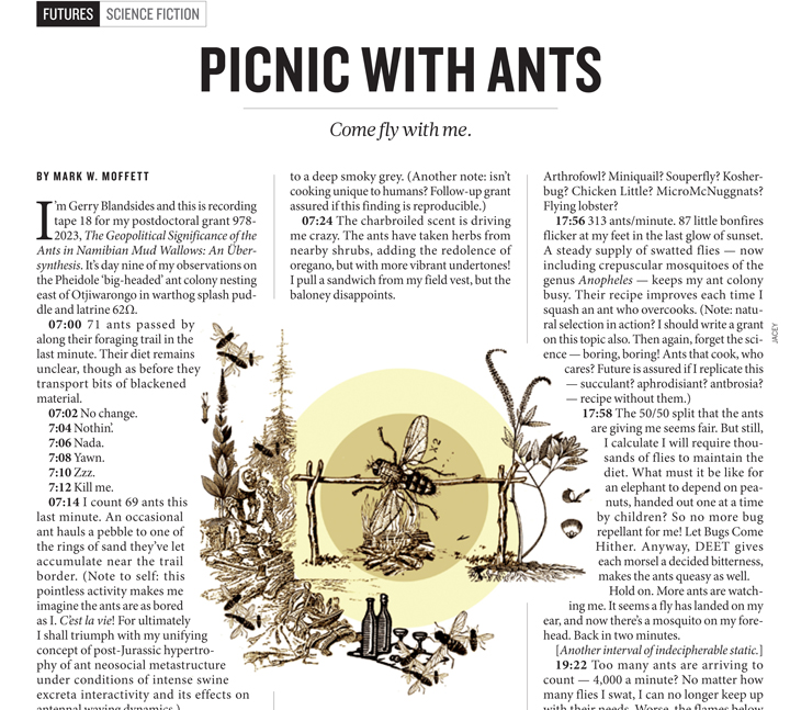 """For a humorous """"take"""" at ant studies,read my 2012 article inNature. (Click image to open)"""