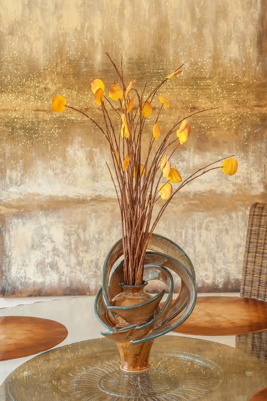 Amber Contemporary Vase