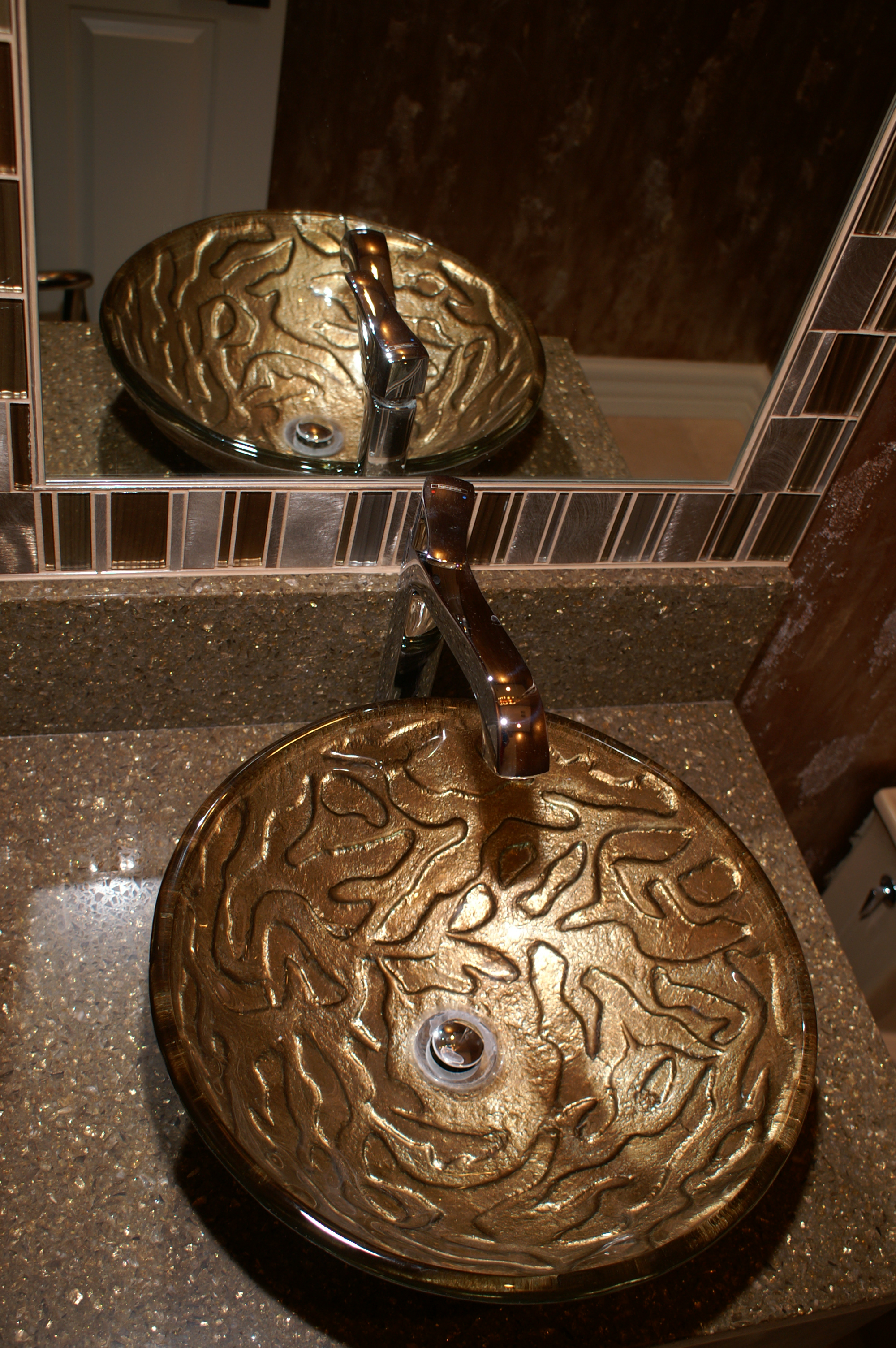Contemporary Bathroom Design, Glass Sink