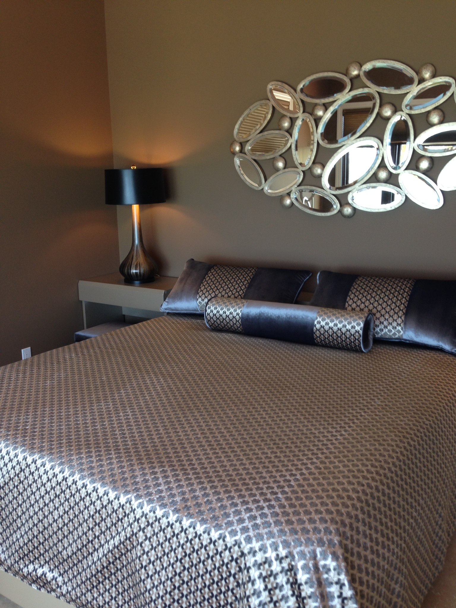 Contemporary Bedroom with Custom Bedding