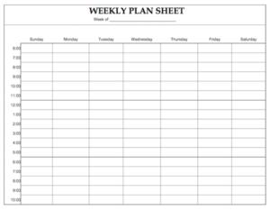 weekly priorities schedule