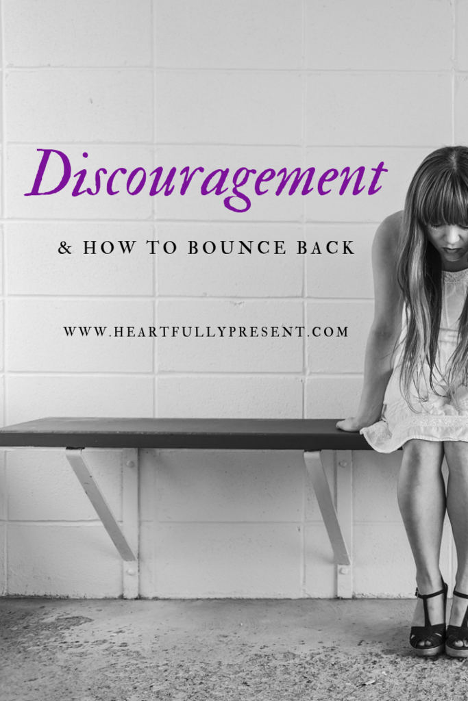 Discouragement|how to bounce back|discouraged woman