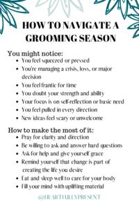 Seasons change | Grooming season | quick tips for navigating a grooming season