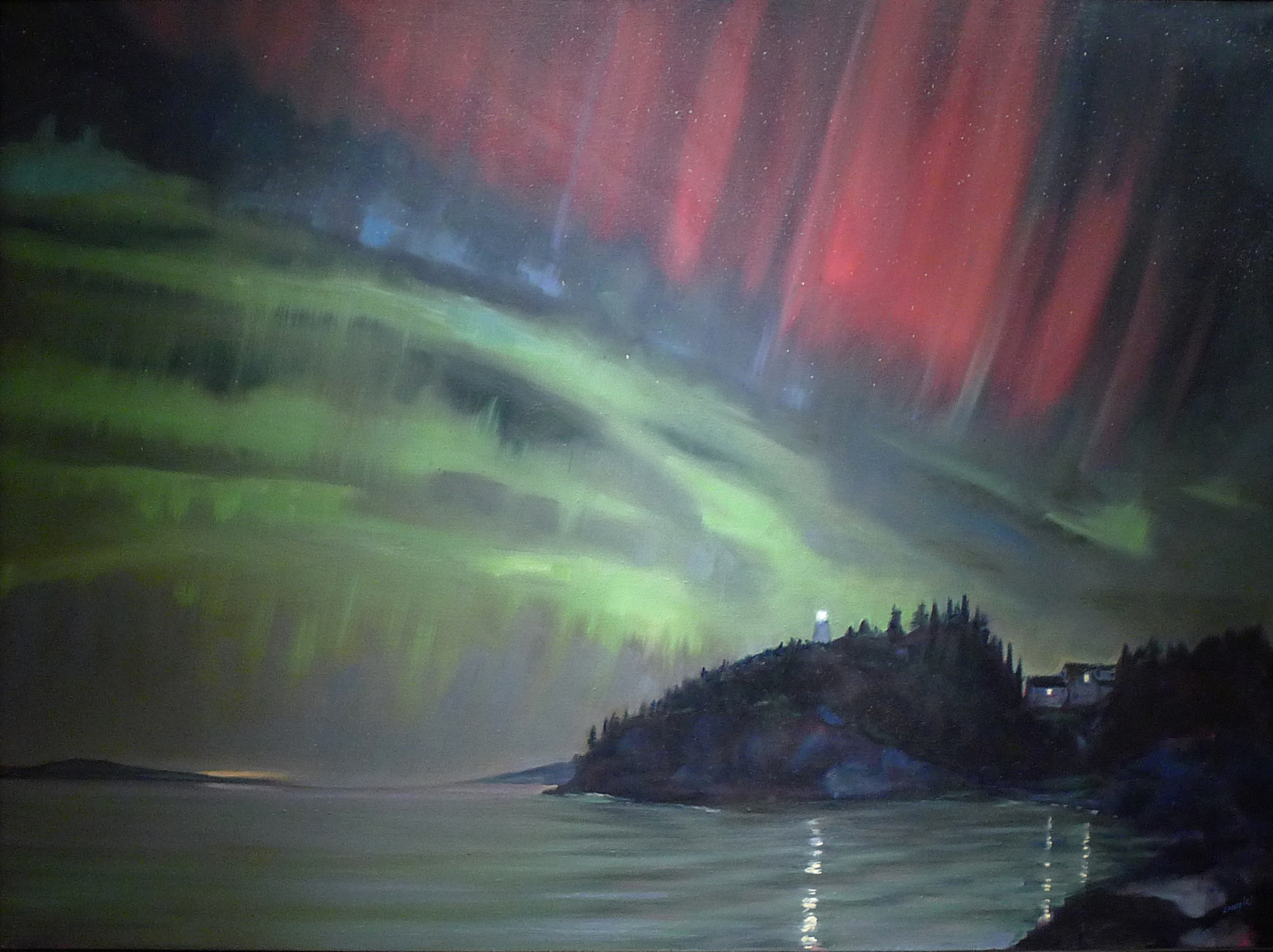 """Aurora,"" 30X40, oil on canvas."