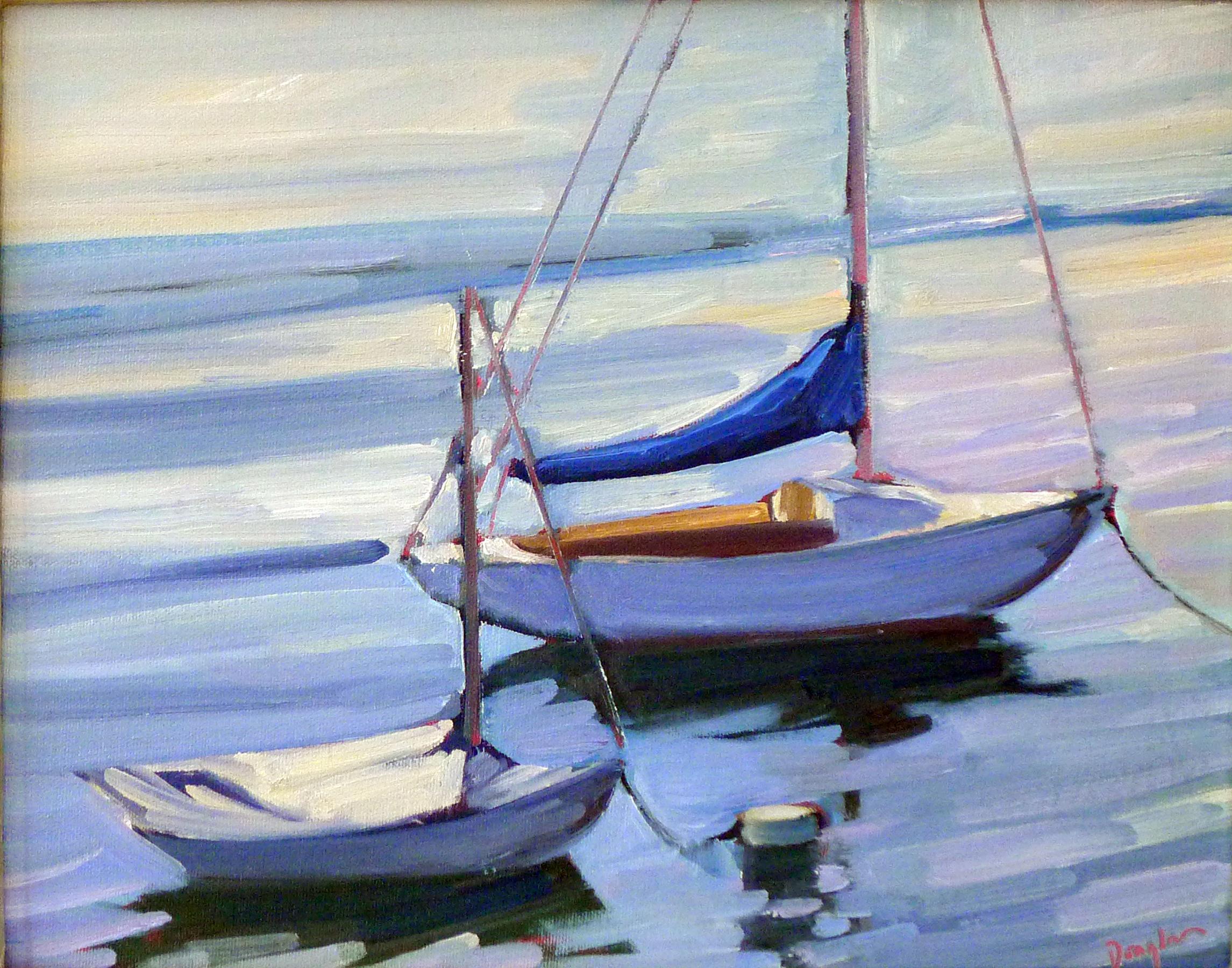 """Flood tide,"" plein air, oil on canvasboard."