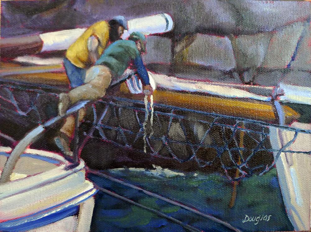 """Setting blocks,"" 8X6, plein air, oil on canvasboard, available."