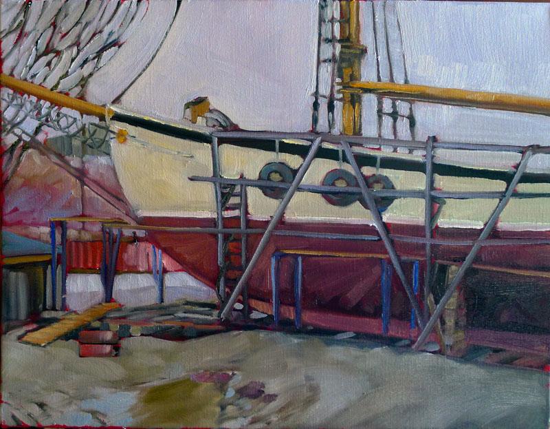 """Thaw,"" plein air, oil on canvasboard, available."