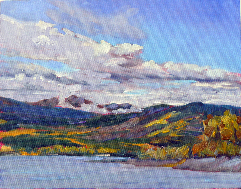 """Clouds over Teslin Lake,"" Teslin, Yukon Territory"