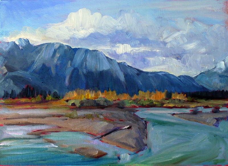 """Confluence,"" Athabasca River, Alberta"