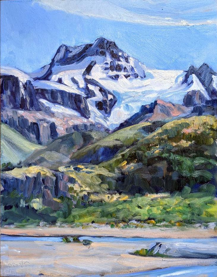 Glaciar Cagliero from Rio Electrico