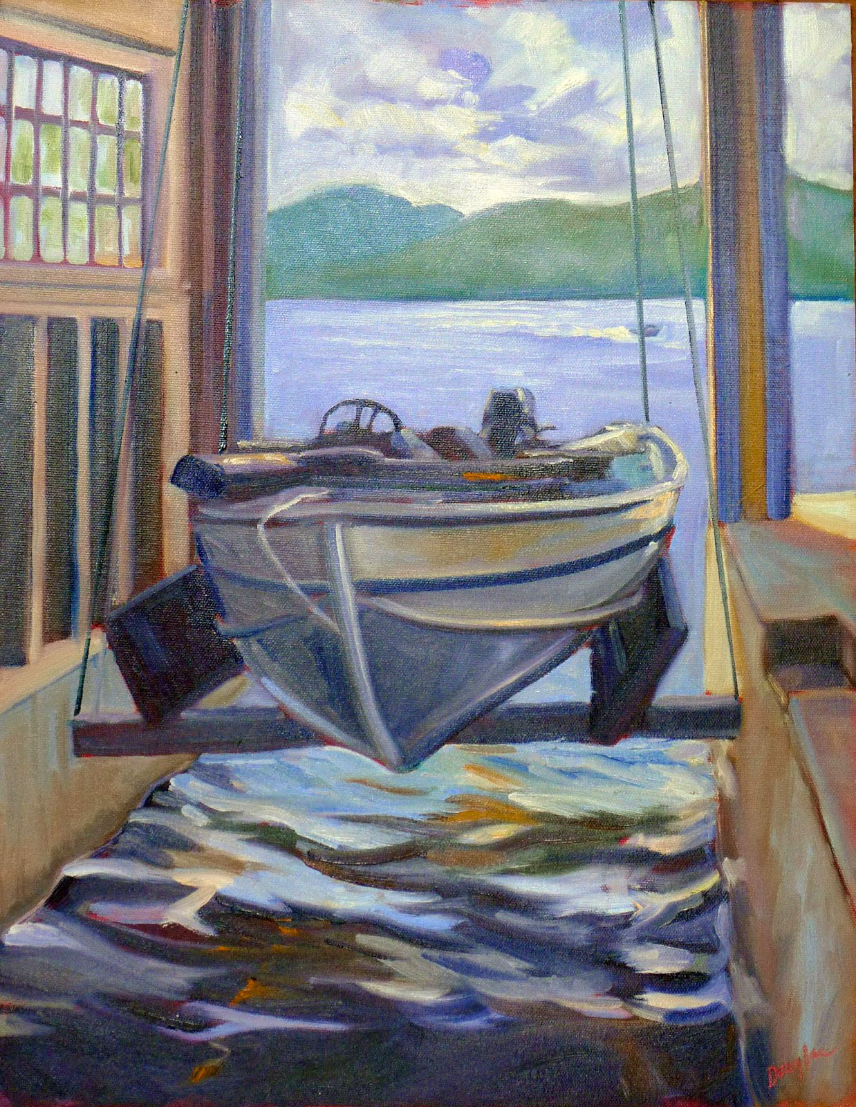 Waiting to Play (Boat House), 14X18, $1275 unframed