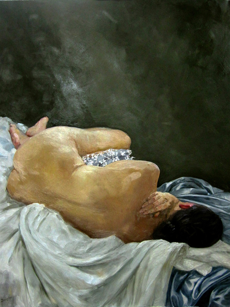 The Laborer Resting, oil on linen, available through Rye Arts Center.