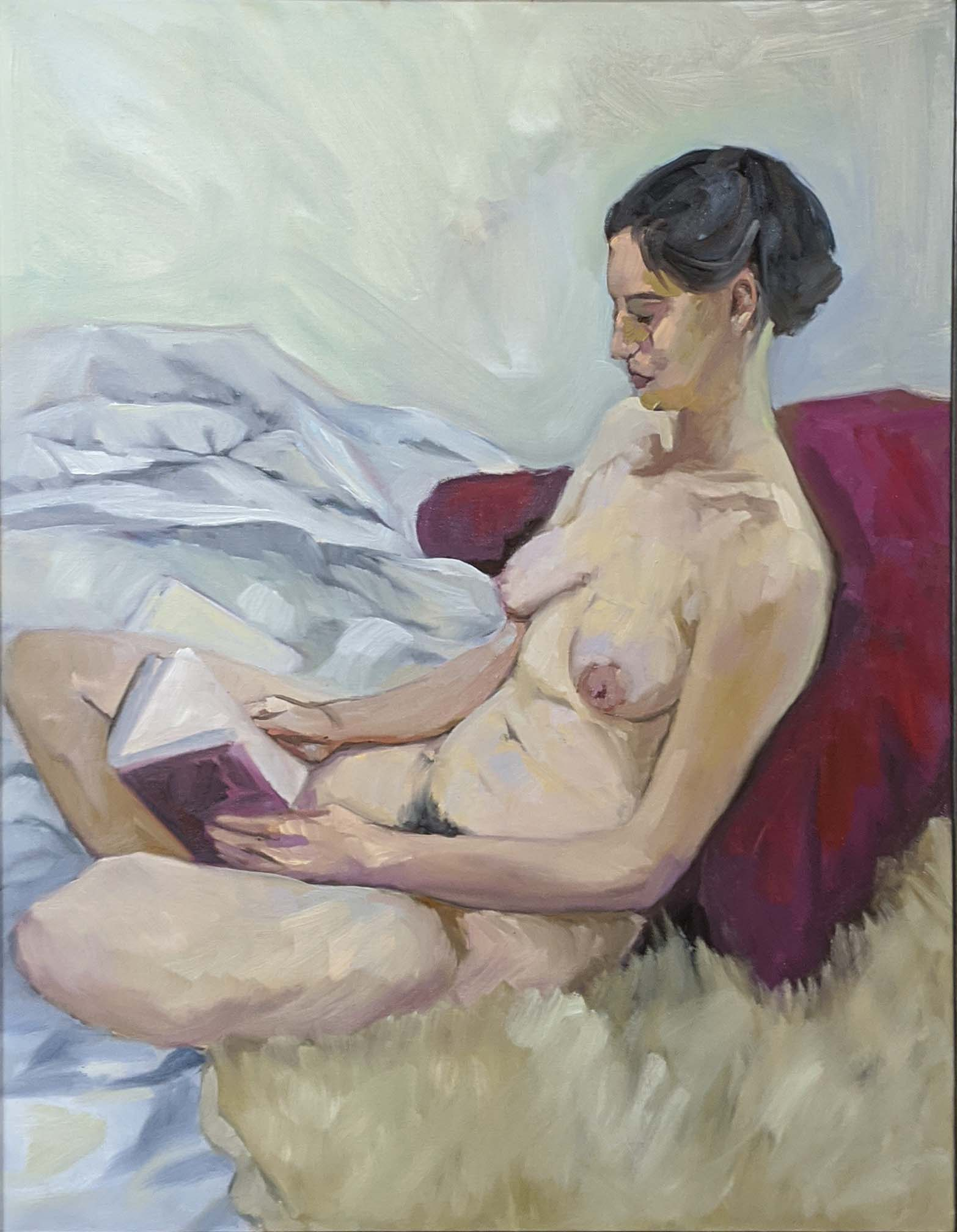 Michelle Reading, oil on linen, available through Rye Arts Center.