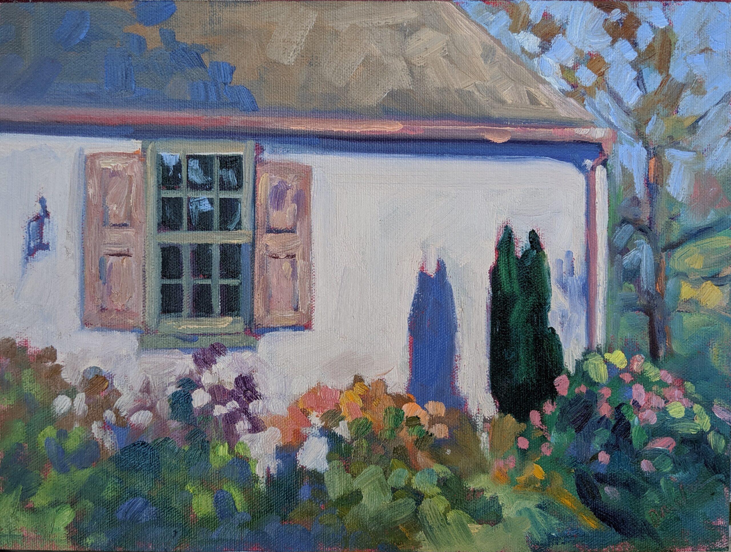 """Evening Shadows,"" 12X9, oil on canvasboard, $869 framed."