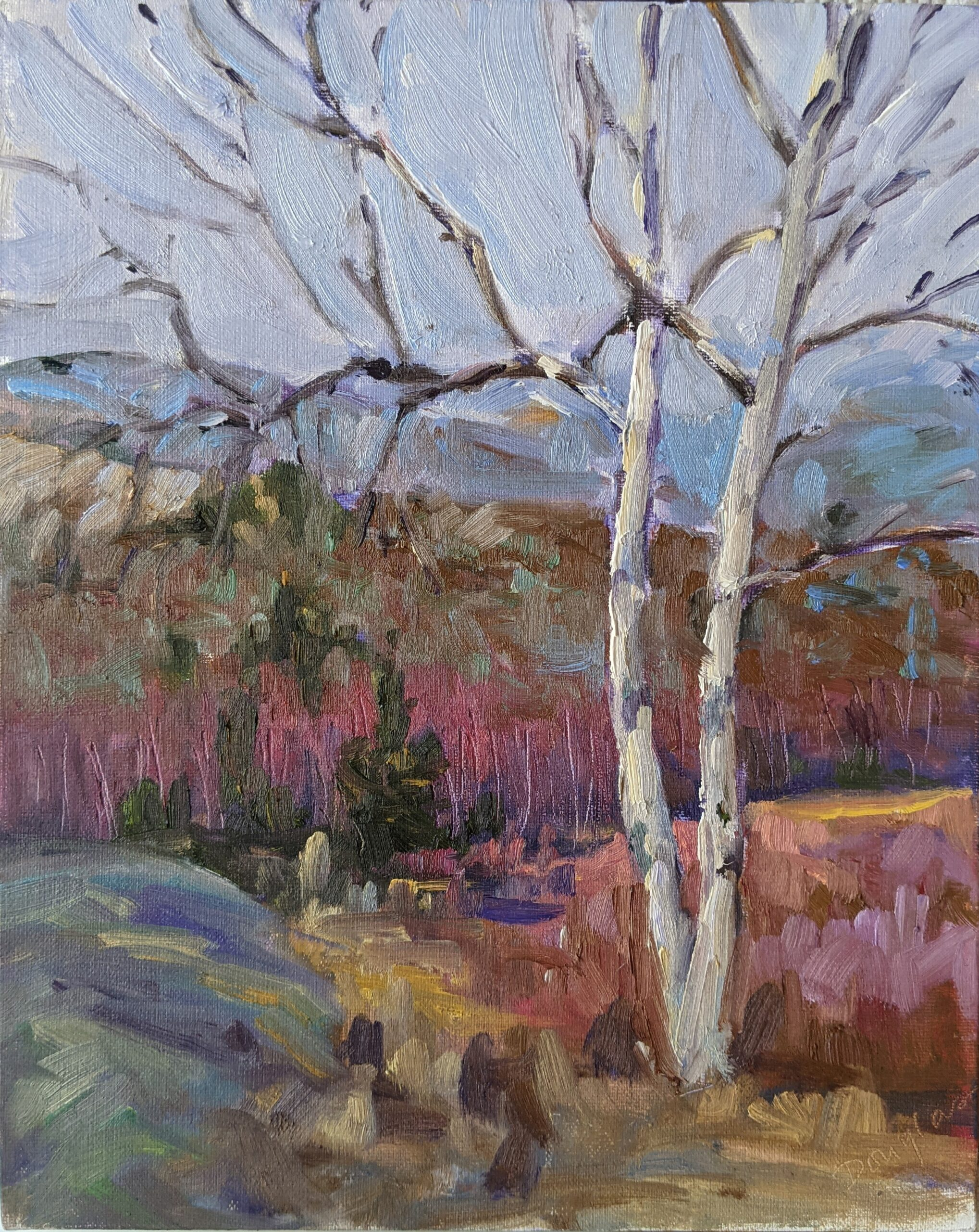 Early Spring, Beech Hill, 8X10, oil on canvasboard, $522 unframed,