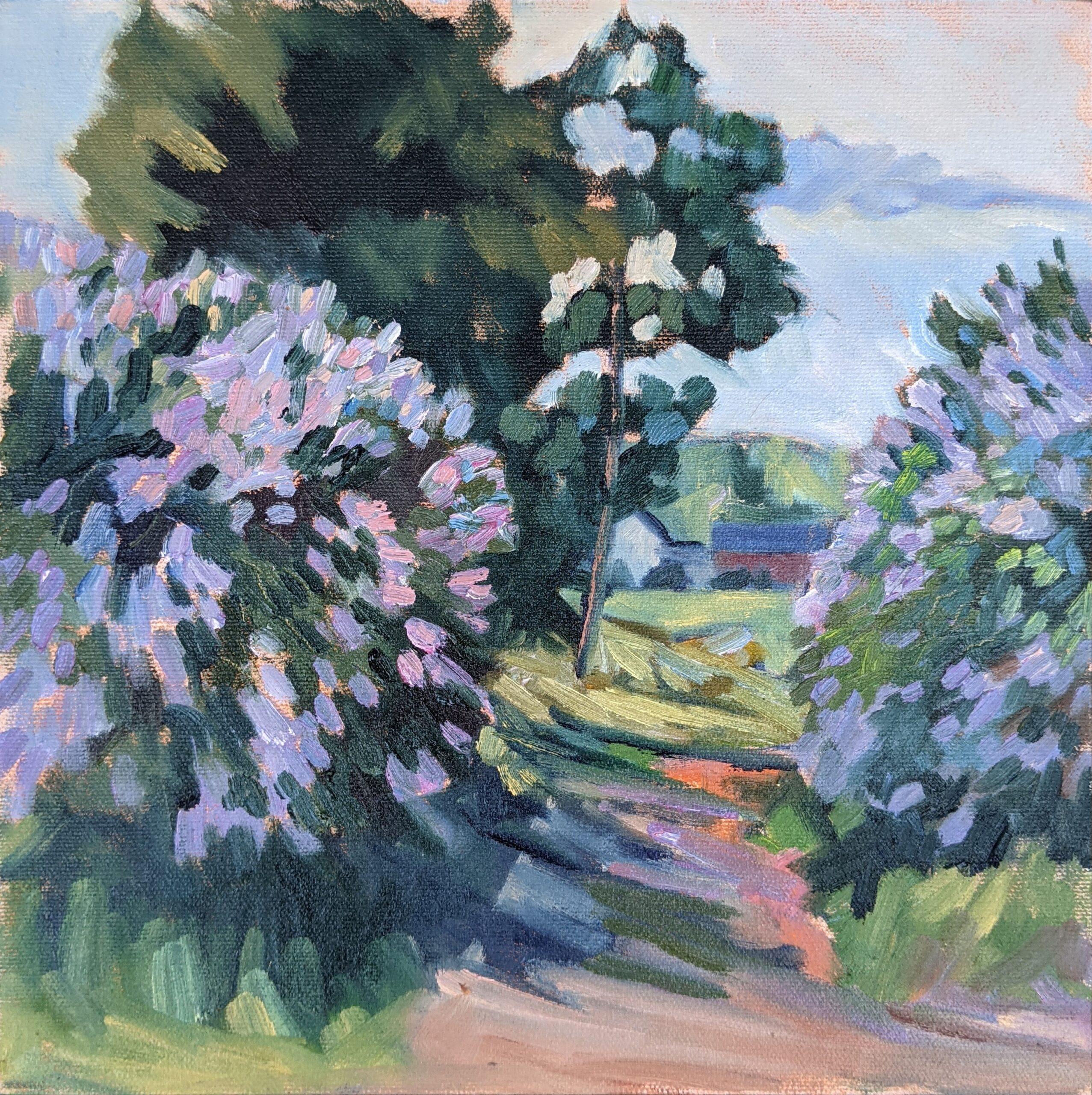 """""""Spring break,"""" 10x10 oil on canvas board, $645 unframed."""
