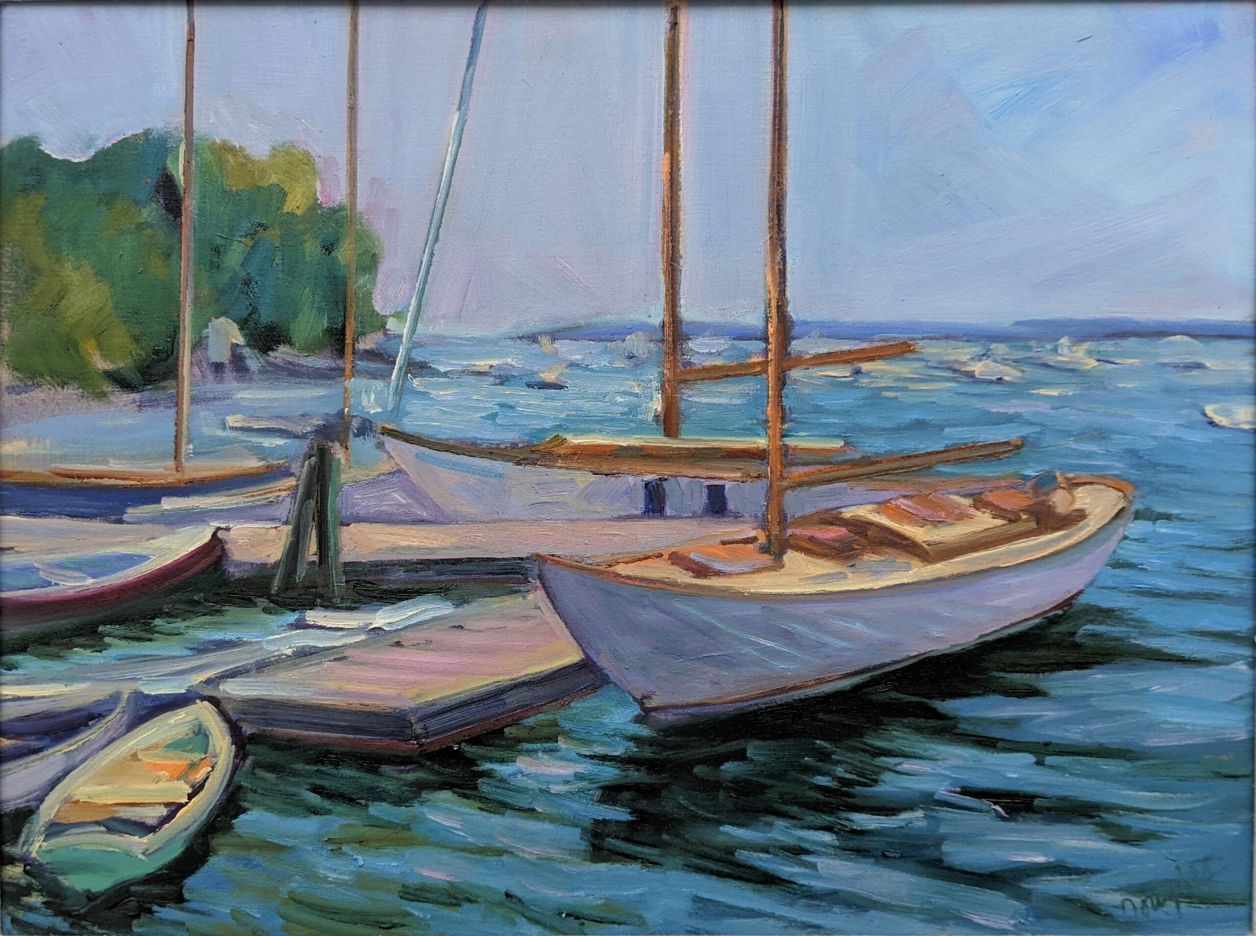 """Beautiful Dream (Rockport)"", 12X16, $1449 framed."