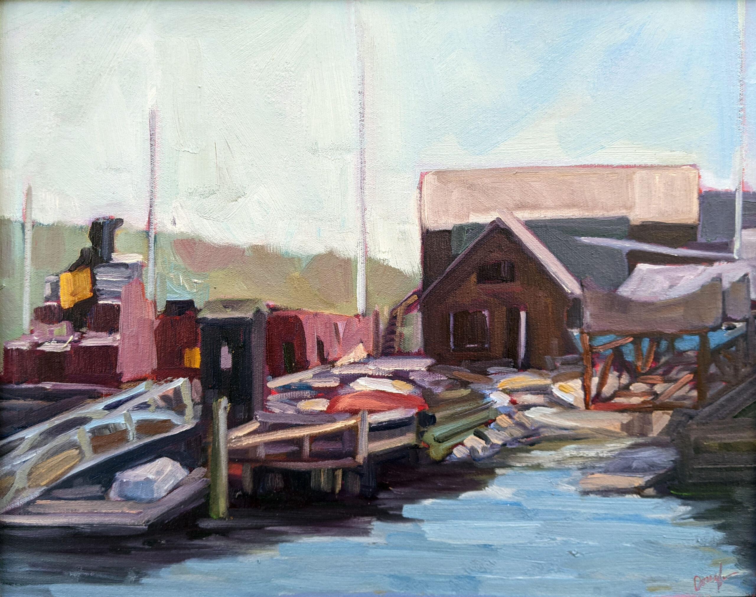 """""""Belfast Harbor,"""" 14X18, $1594 framed."""