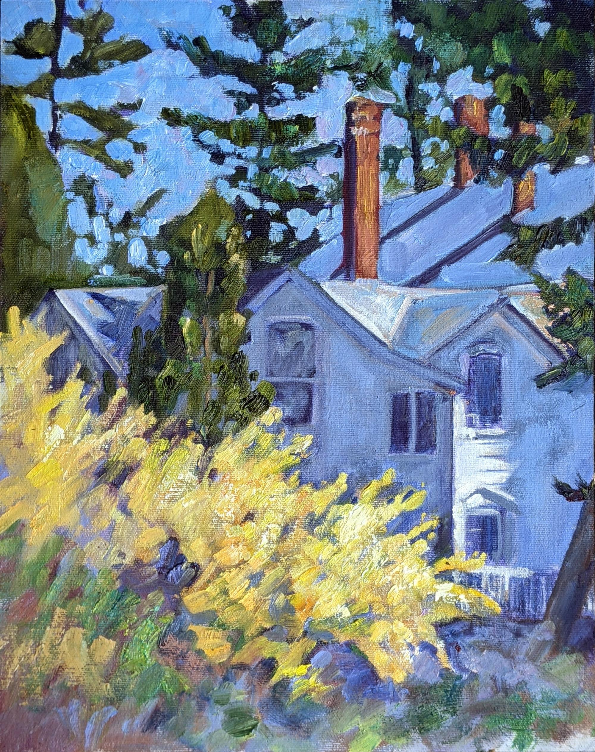 """Three Chimneys,"" 12X16, oil on canvasboard, $1, 159 unframed."