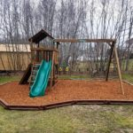 Lexington w/Wood Fiber Mulch Playground & Plastic Borders